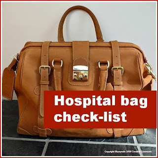 Hospital bag check-list