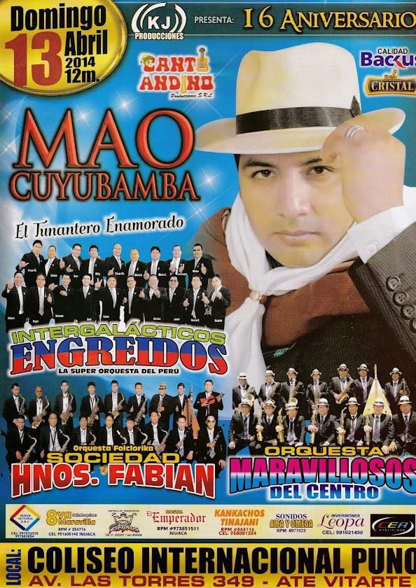 """MAO CUYUBAMBA    """"EL TUNANTERO ENAMORADO"""""""