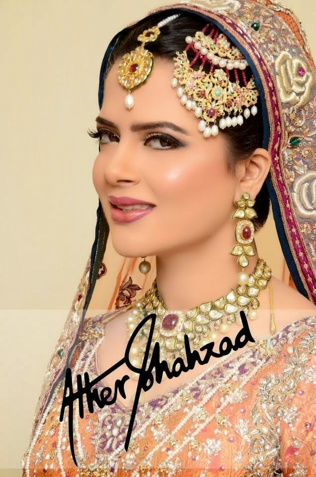 Beautiful and latest Bridal Make up By Ather Shahzad ~ Just Bridal