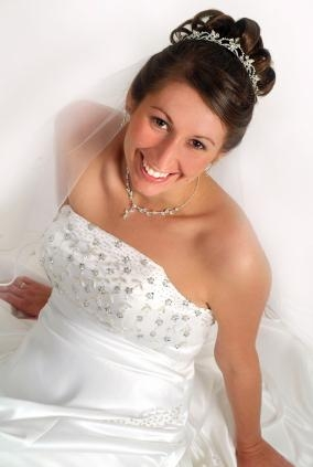 curly wedding hair with tiara. Wedding Hair Styles For Long