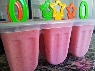 sorvete de morango feito em casa