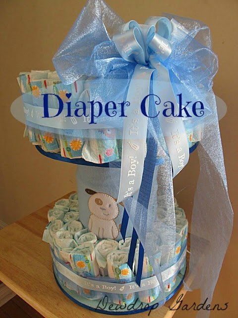 Diaper Cake made for my niece's shower