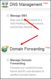 bigrock DNS - forwording settings