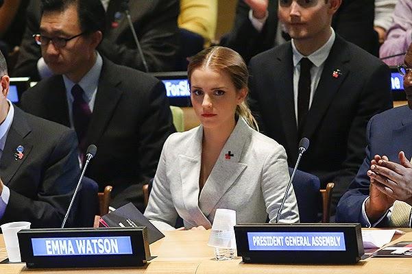 Took the floor_Emma Watson gave a speech on women's rights