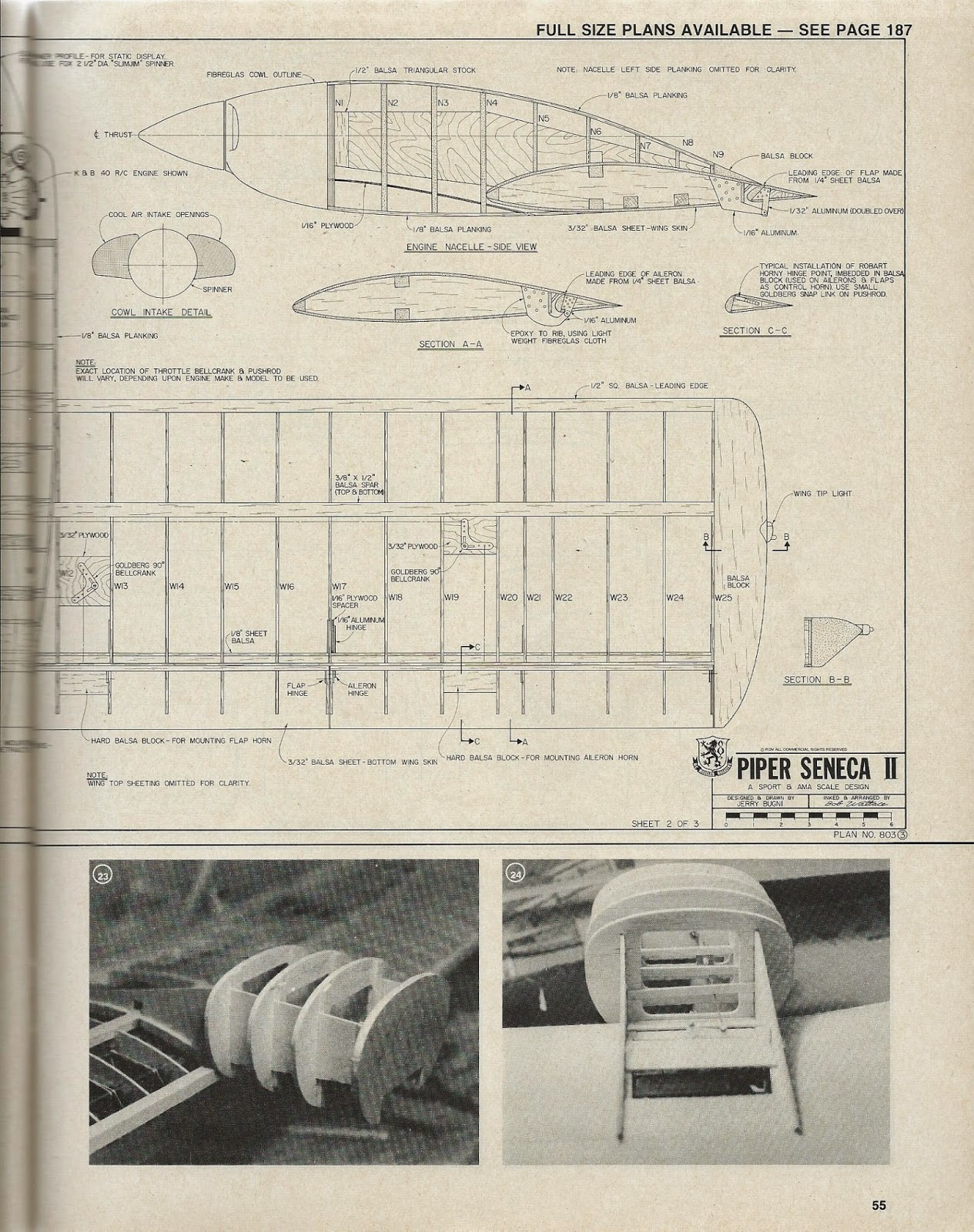 Rcm Piper Seneca Ii Article And Plan R C Modeler Wiring Diagram Retract Kit