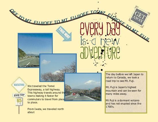 Japan Scrapbook Page