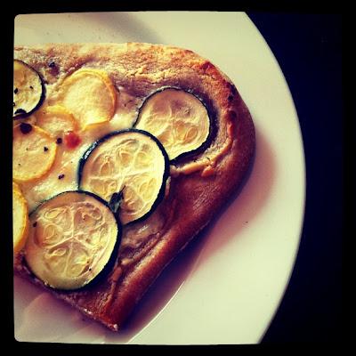 Dinner Last Night: Lemony Zucchini Goat Cheese Pizza