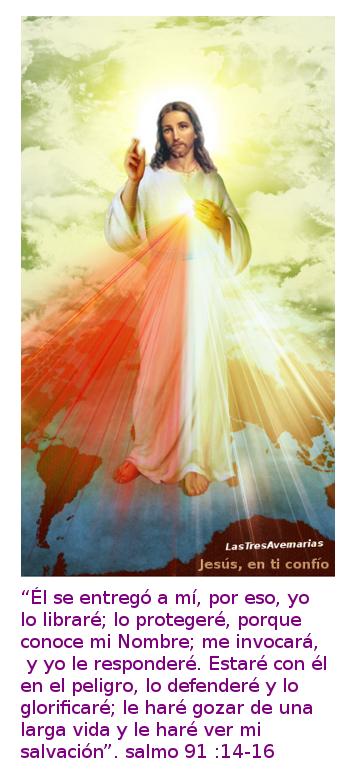 divina misericordia con salmo 911
