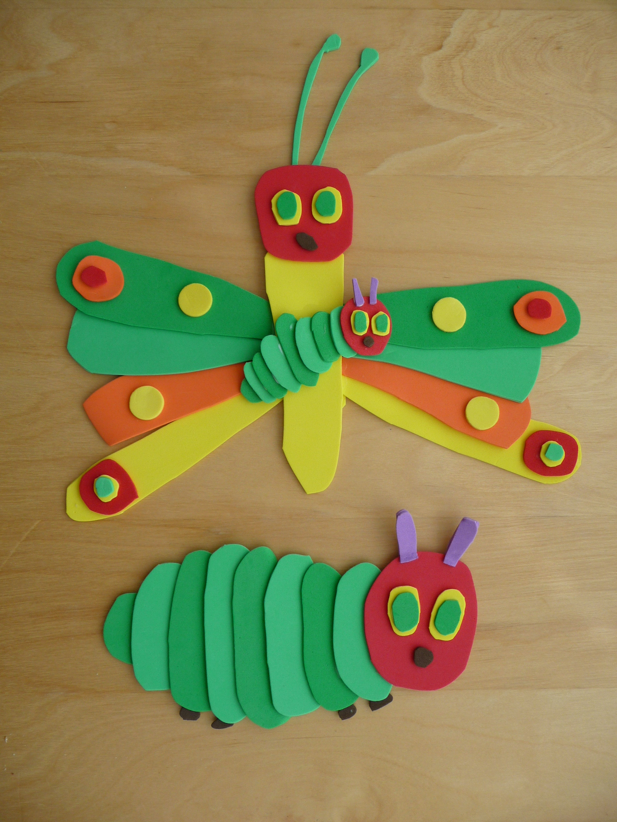 Butterfly life cycle lessons from a teacher kids fun for Caterpillar crafts for preschoolers