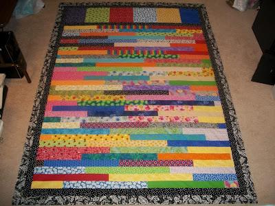 Sew Cook and Travel: 2012 Rainbow Scrap Challenge Strip Quilt Top : strip quilt - Adamdwight.com
