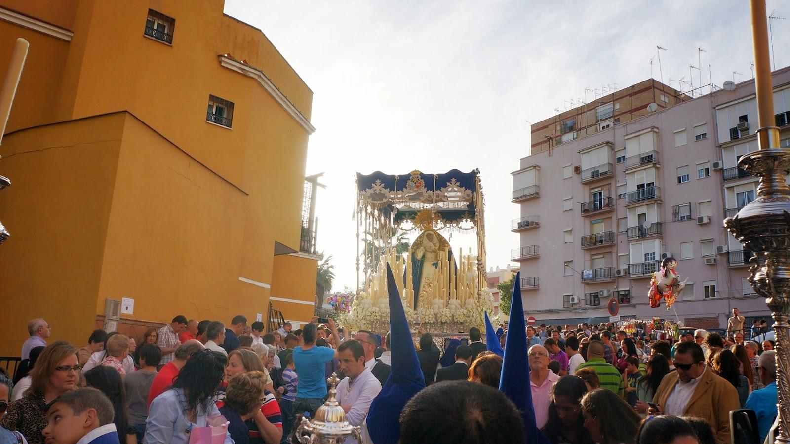 Visperas 2014 Procesion de la Virgen de Los Angeles en San Juan de Aznalfarache