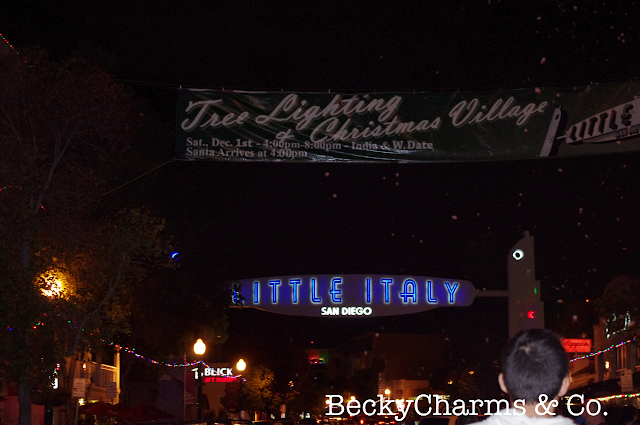 Little Italy Tree Lighting and Christmas Village photo by Mr. Google by BeckyCharms, San Diego, Little Italy, Christmas, community, local, events, beckycharms