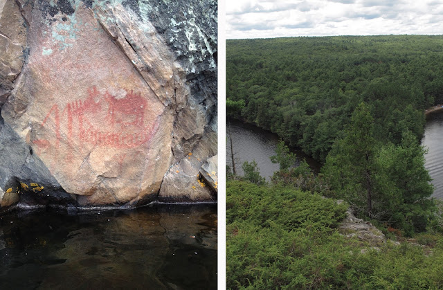 mazinaw rock, above & below [bon echo]