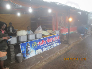 Prasad(Sweet)  shop on main street of of Bhimashankar town.