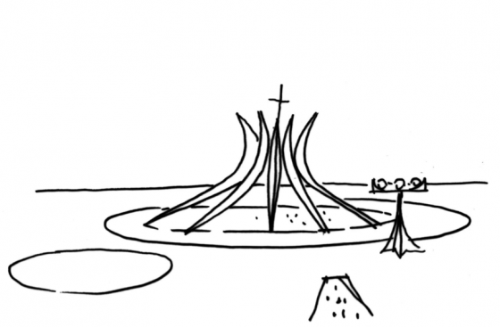 Brasília começou a ser planejada e desenvolvida em 1956.