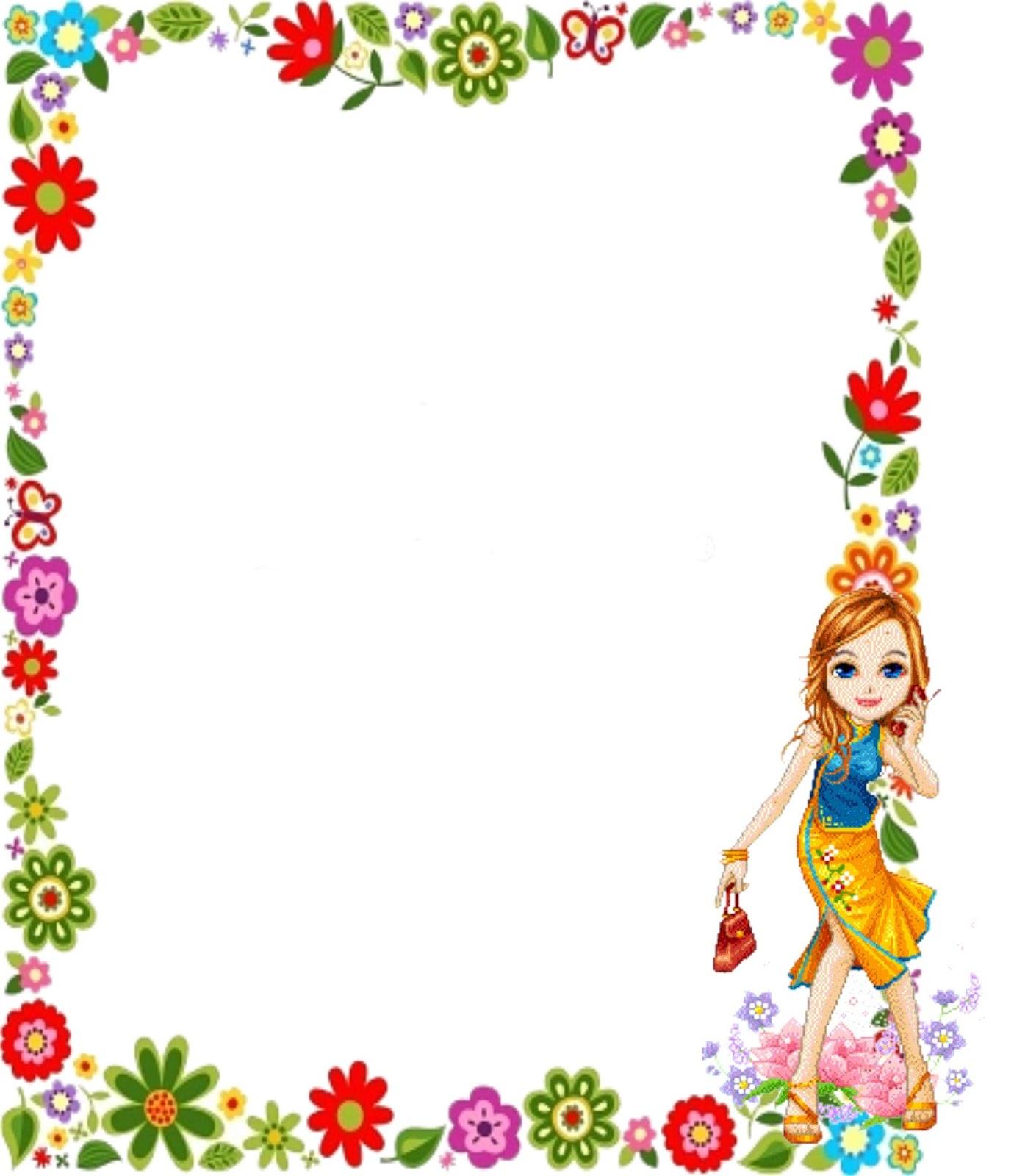 Bordes de flores para caratulas - Imagui