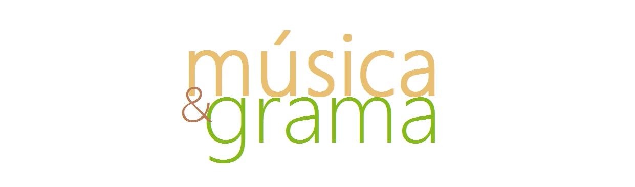 música e grama