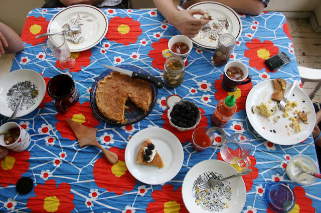 Brunch Table with Kentucky Lemon Chess Pie