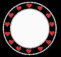 Plaquinha cute circular coração - Criação Blog PNG-Free
