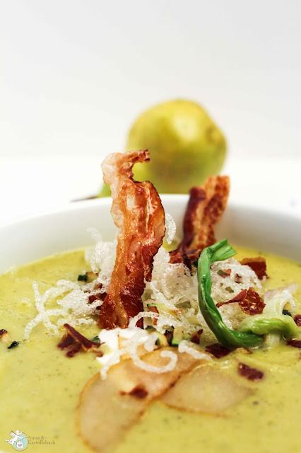 Speck frittierte Glasnudeln Suppe Vorspeise