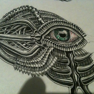 mechanical eye drawing by TonyMark