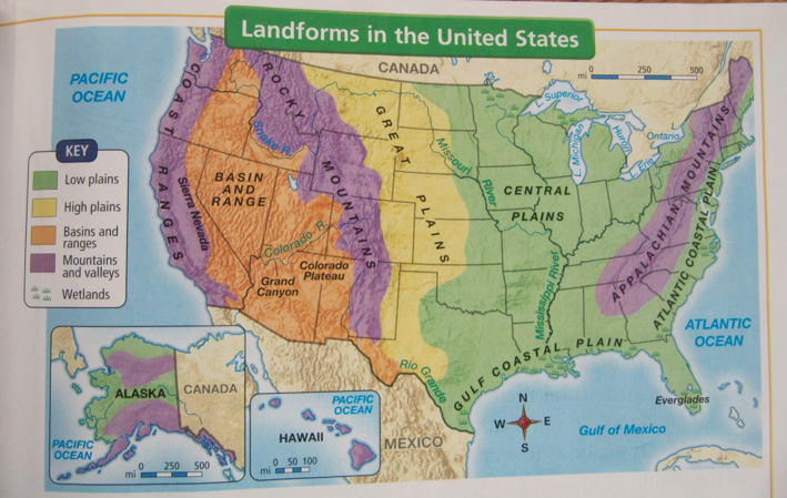 Geography Of The United States Lessons Tes Teach - Mountain ranges of united states