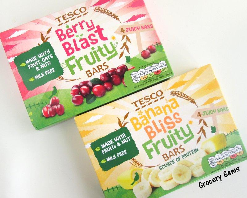 Grocery Gems: Tesco Banana Bliss & Berry Blast Fruity Bars Review