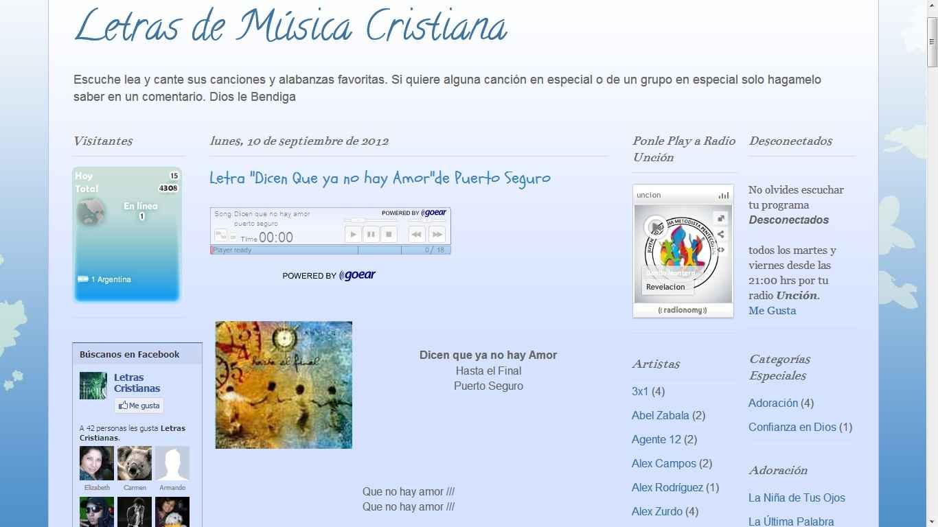 musica cristiana para escuchar por internet: