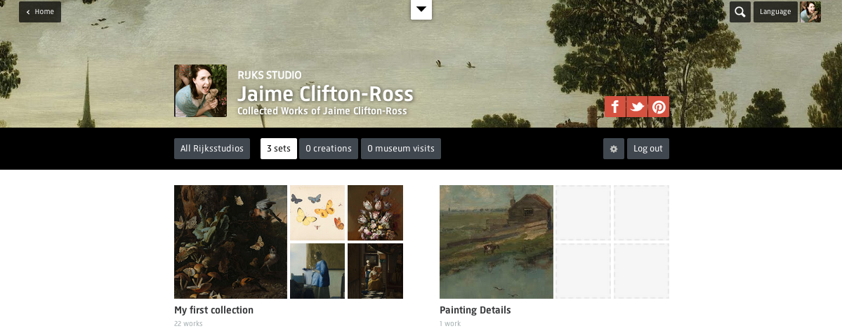 Rijksstudio account