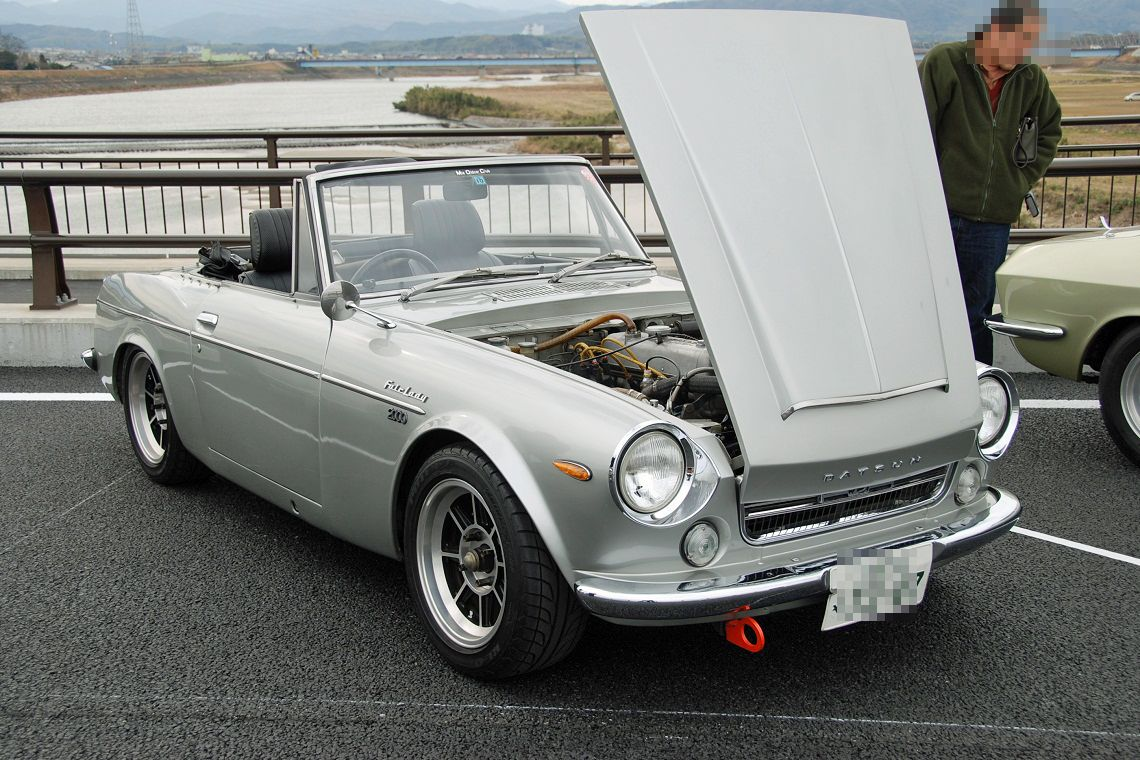 Nissan Fairlady (Datsun Sports), klasyczny roadster, piękny, japoński samochód, JDM, fotki
