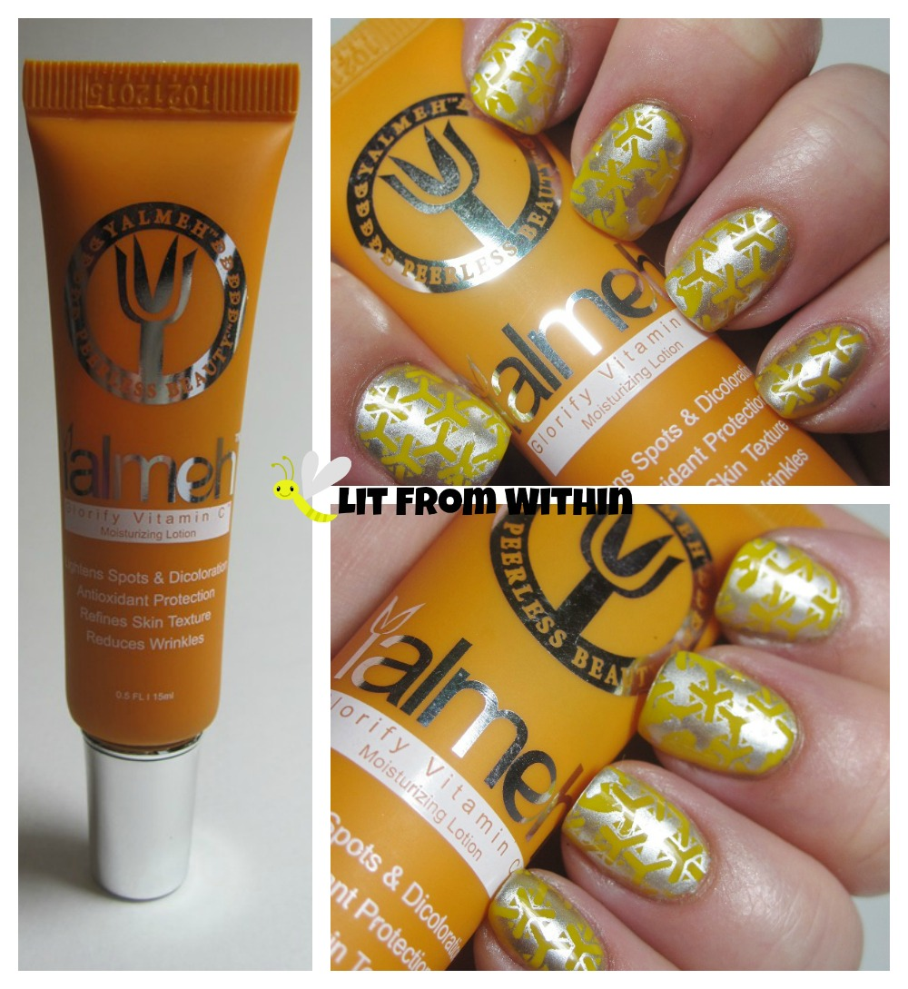 Yalmeh Glorify Vitamin C Moisturizing Lotion-inspired nailart