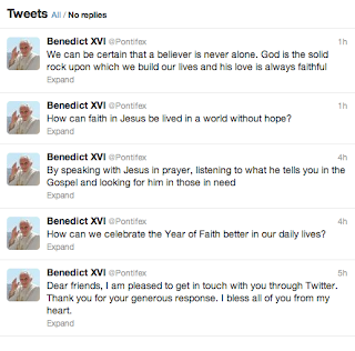 @Pontifex - First Five Tweets