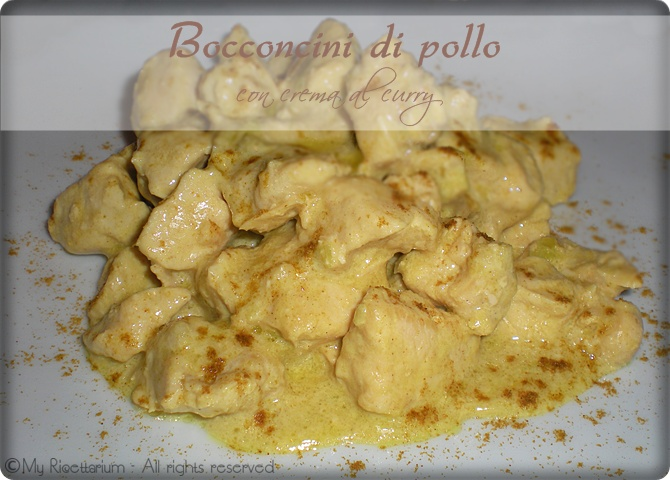 Bocconcini di pollo con crema al curry