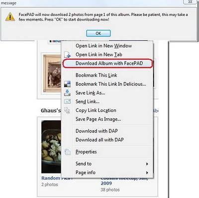 Cara download Satu Album Sekaligus dari Facebook