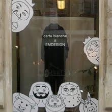 Ln Boul et EM Design figuraient dans l'exposition de Noël Noir&Blanc chez M Cat