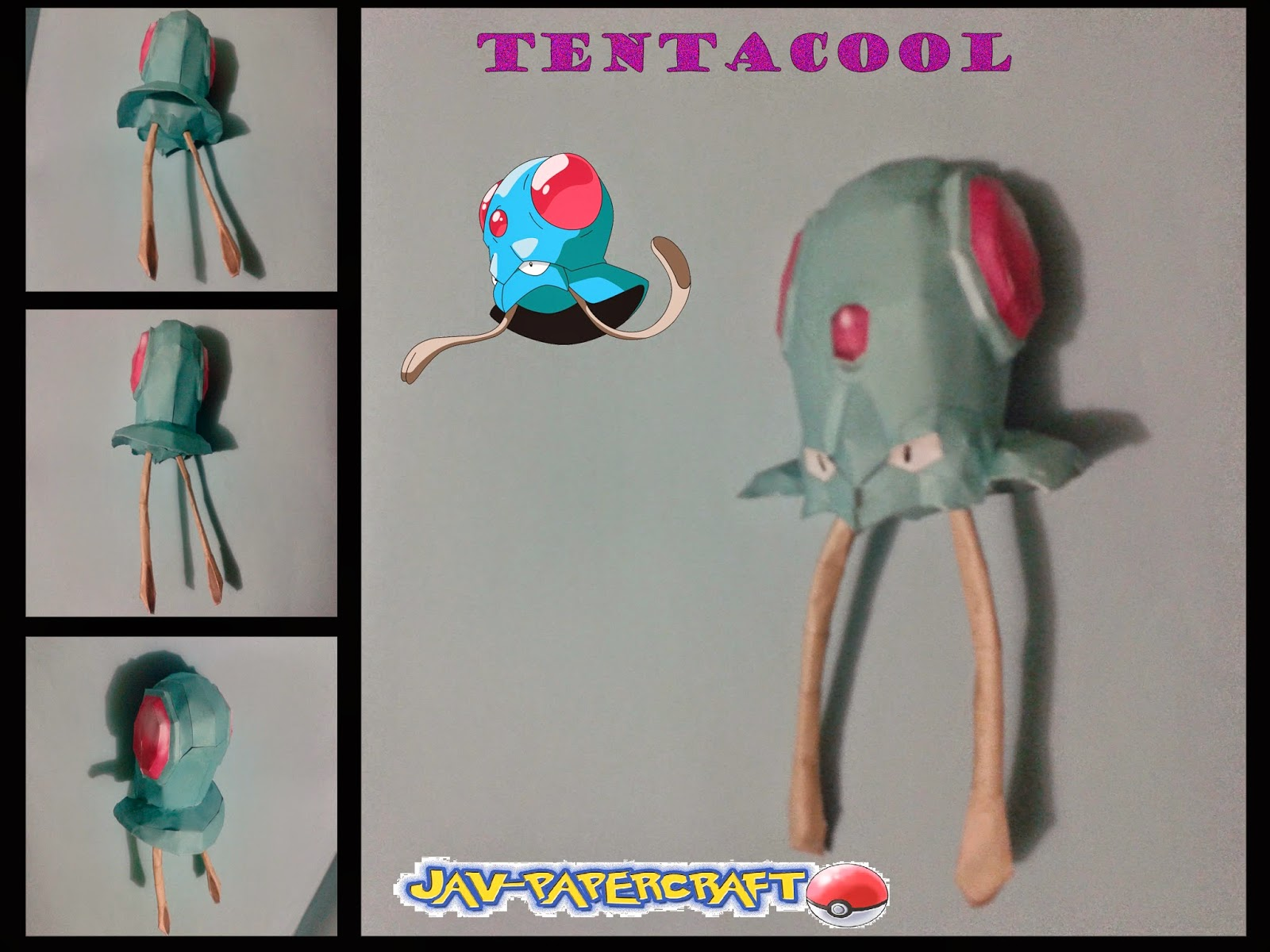 Pokemon Tentacool Papercraft