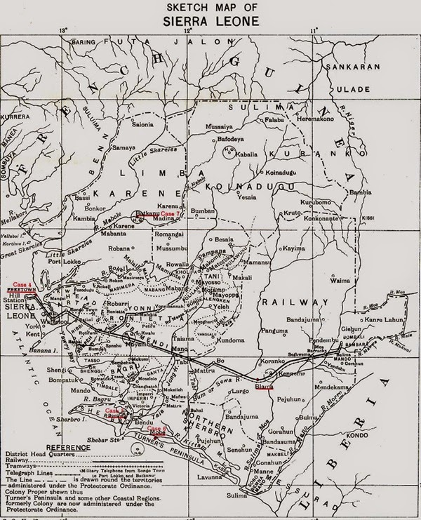 Sierra Leone Historic Map