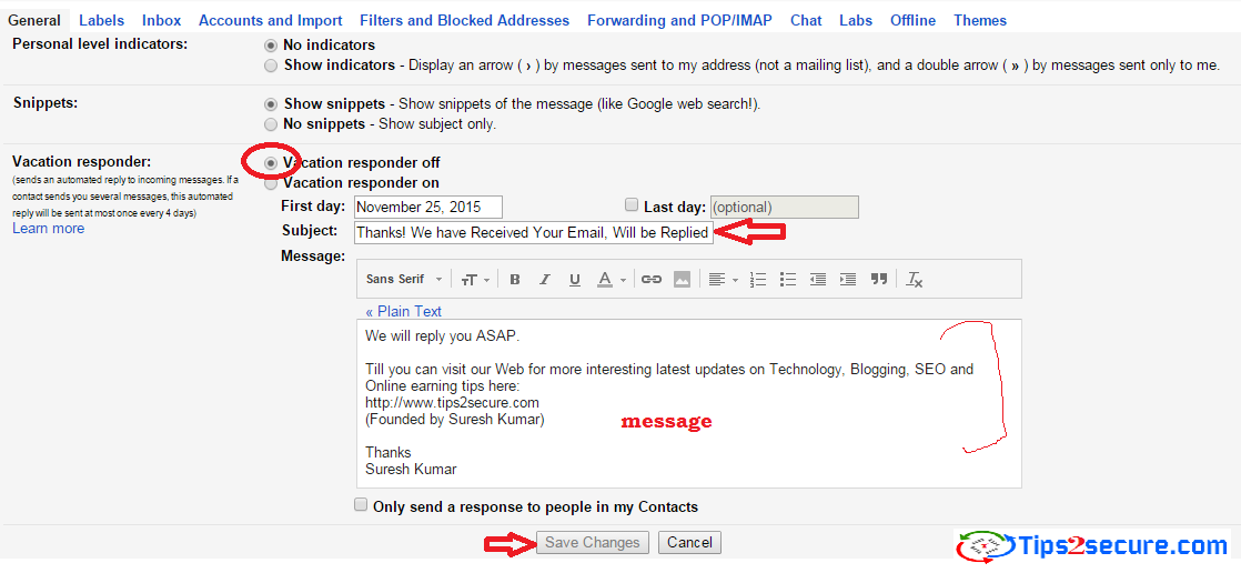 How To Set Up Email Auto Reply To Send Reply Automatically