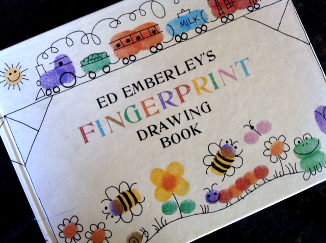 this was the first time we brought home the fingerprint book and both kids were able to have fun with it
