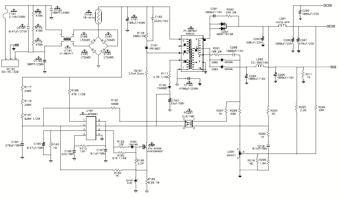 схема монитора lg flatron l1953s