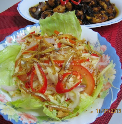 Kerabu mangga muda ala Thai