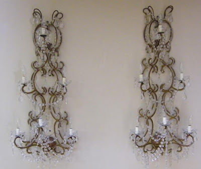 19th Century France, Provence, Wall Sconces,(44h x 18w x 10.5d) via Authentic Provence as seen on linenandlavender.net