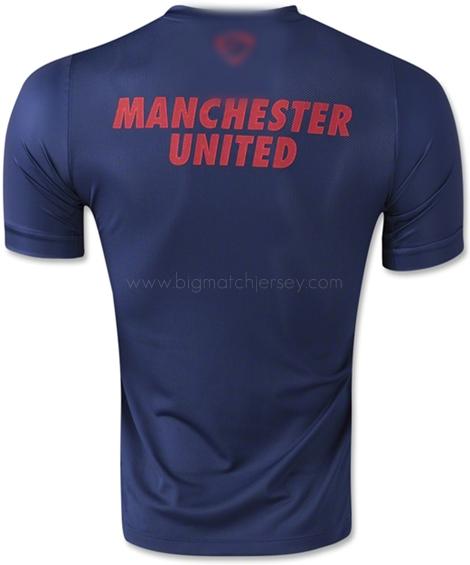 2014-15 Man Utd Nike Pre-Match Training Shirt (Navy-Crimson)