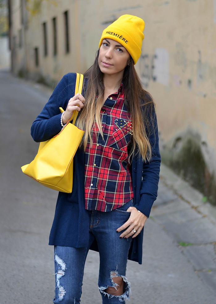 camicia quadri idea outfit
