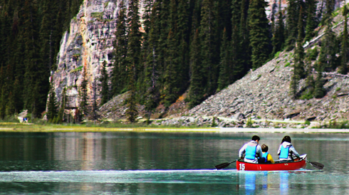canoe lake louise banff alberta travel photography series