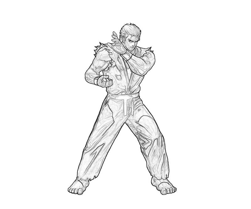 king-of-fighters-ryo-sakazaki-look-coloring-pages