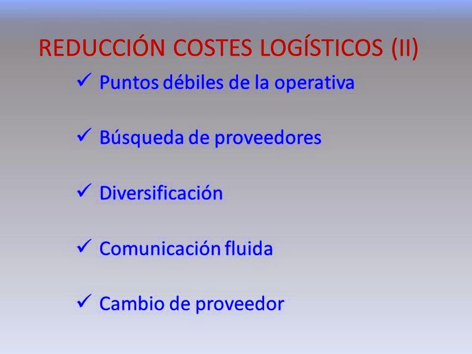 La reducción de costes de transporte y logística analizados por gonzalo garcía-baquero