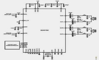 Stereo application circuit schematic