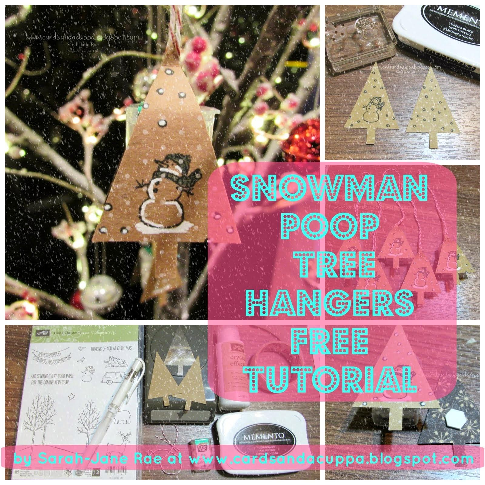 Snowman Poop Tree Hangers FREE Tutorial