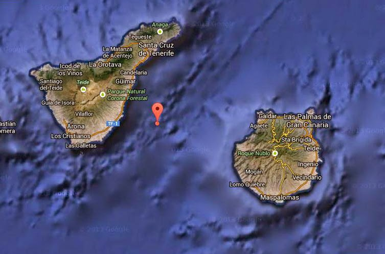 Dos terremotos Atlántico Canarias, marzo